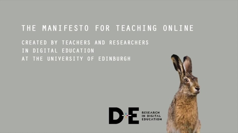 Thumbnail for entry Manifesto for Teaching Online, June 2017