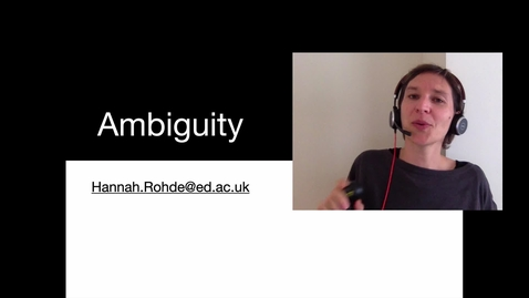 Thumbnail for entry Ambiguity