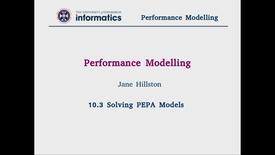 Thumbnail for entry 10.3 Solving PEPA Models