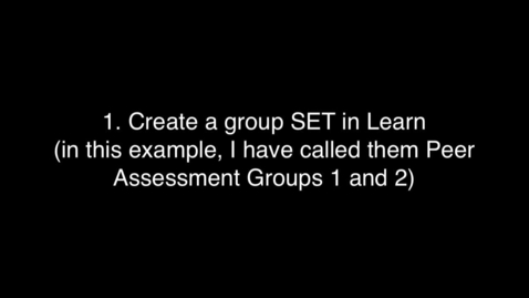 Thumbnail for entry How to create a WebPA assignment in Learn
