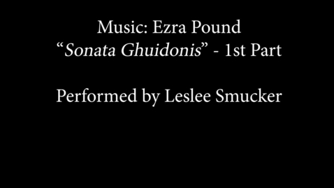 Thumbnail for entry Sonata Ghuidonis
