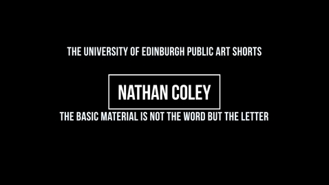 Thumbnail for entry Nathan Coley