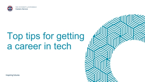 Thumbnail for entry Top tips for getting a career in tech