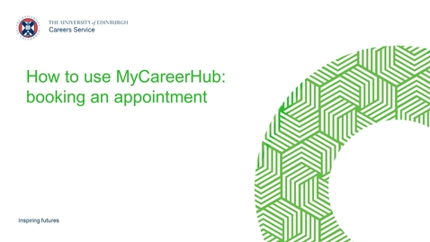 Thumbnail for entry MyCareerHub: Booking an appointment