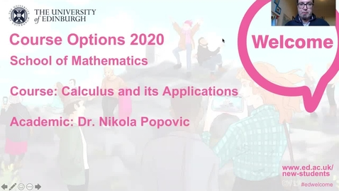 Thumbnail for entry Mathematics - Calculus and its Applications