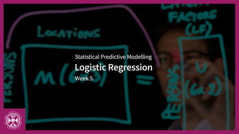 Thumbnail for entry Logistic Regression