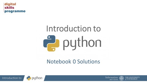 Thumbnail for entry Introduction to Python Notebook 0