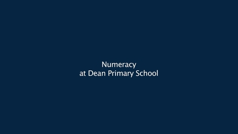 Thumbnail for entry Numeracy at Dean Park Primary School