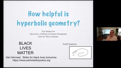 Thumbnail for entry How helpful is hyperbolic geometry?  - Eric Samperton