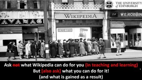 Thumbnail for entry OER20 - Wikimedia in Education