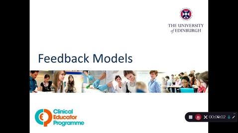 Thumbnail for entry Giving Effective Feedback: Feedback Models
