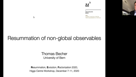 Thumbnail for entry REF2020: Thomas Becher- Resummation of non-global observables (1)
