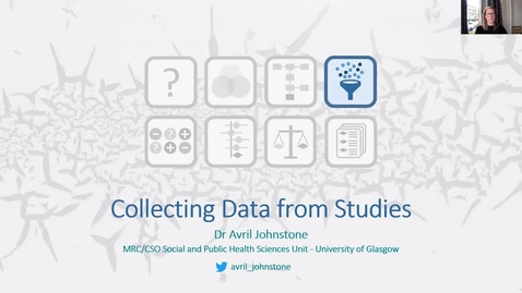 Thumbnail for entry Collecting Data From Studies - Avril Johnstone