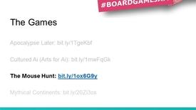 Thumbnail for entry Board Game Jam OER - Mouse Hunt