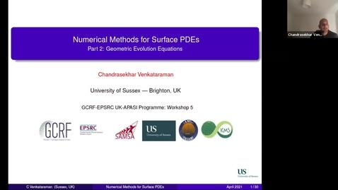 Thumbnail for entry UK-APASI in Mathematical Sciences: Chandrasekhar Venkataraman