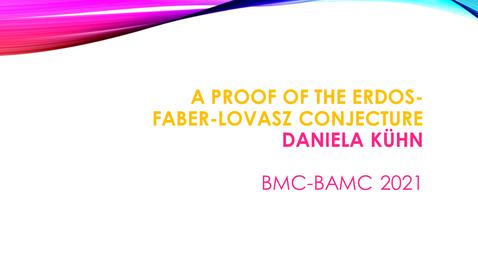 Thumbnail for entry BMC BAMC 2021 Daniela Kuhn