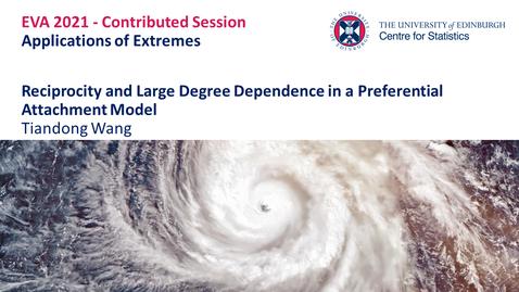 Thumbnail for entry Applications of Extremes: Tiandong Wang