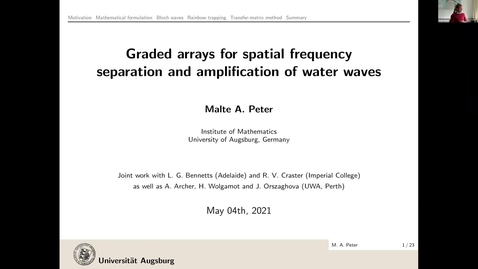Thumbnail for entry Waves in Complex Continua (Wavinar) - Malte A. Peter