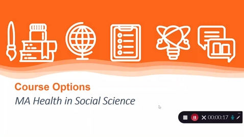 Thumbnail for entry MA Health in Social Science options