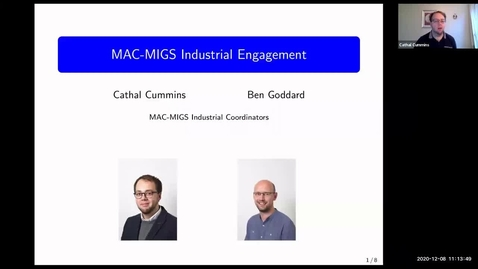 Thumbnail for entry MAC-MIGS CDT Industry programme