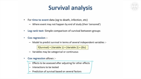 Thumbnail for entry 19. Survival Analysis