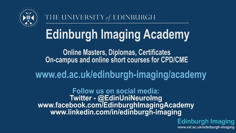 Thumbnail for entry Miriam, Imaging MSc online student
