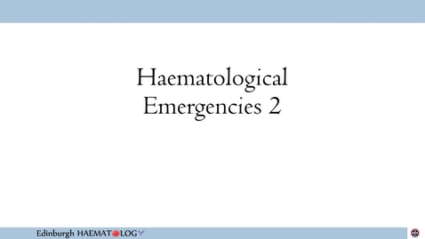 Thumbnail for entry Haematological Emergencies 2 - Cord Compression and SVC Obstruction