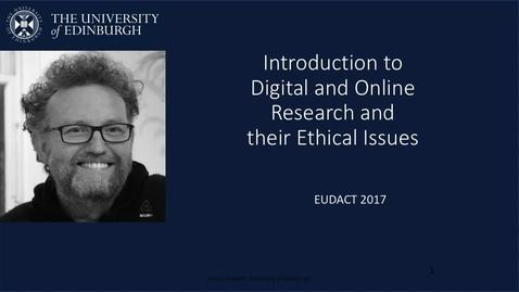 Thumbnail for entry EUDACT Week 1 Part 1