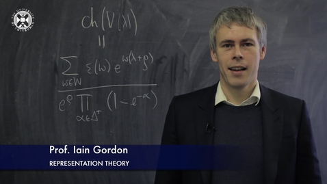 Thumbnail for entry Iain Gordon-Representation Theory- Research In A Nutshell - School of Mathematics -14/05/2015