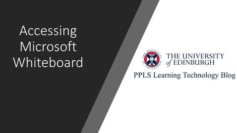 Thumbnail for entry PPLS Learning Technology blog: Microsoft Whiteboard