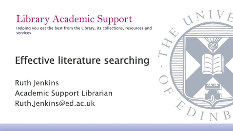 Thumbnail for entry Clinical Education - Literature Searching