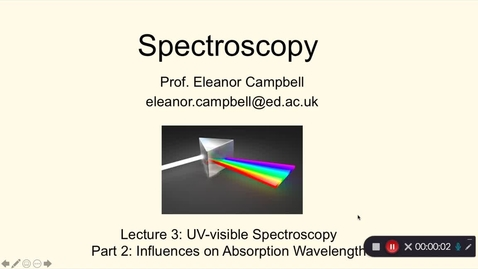 Thumbnail for entry Chem1 Spectroscopy Lecture 3 Part 2