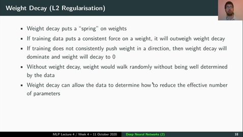 Thumbnail for entry MLP Lecture 04 - Clip 05 - L1&L2 Regularisation