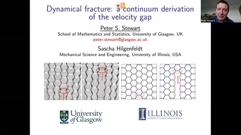Thumbnail for entry Dynamical fracture: a continuum derivation of the velocity gap - Peter Stewart