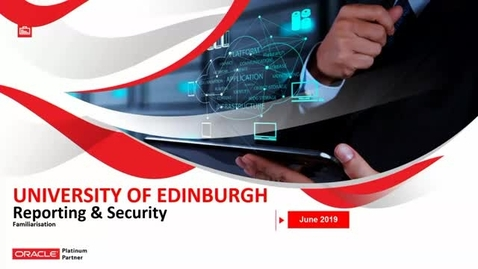 Thumbnail for entry Core Systems - Reporting and Security Familiarisation 24 June AM