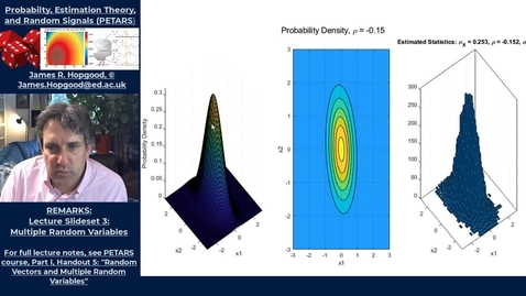 Thumbnail for entry Topic 38: The Multivariate Guassian Distribution (PETARS, Chapter 5)