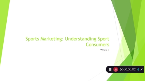 Thumbnail for entry Understanding Sport Consumers (Part 1)