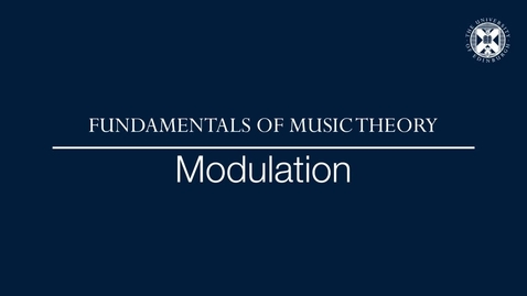 Thumbnail for entry Fundamentals of music theory - Modulation