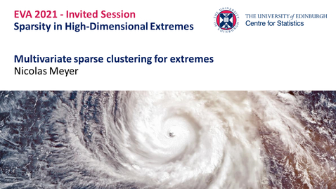 Thumbnail for entry Sparsity in High-Dimensional Extremes: Nicolas Meyer