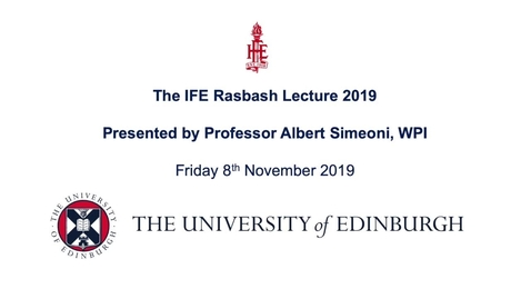 Thumbnail for entry IFE Rasbash Lecture 2019