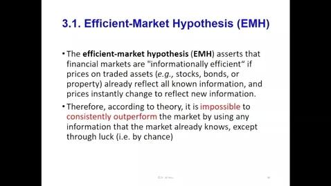 Thumbnail for entry GFMEE 2.4. Efficient Market Hypothesis