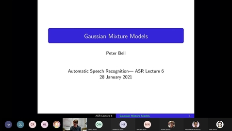 Thumbnail for entry ASR Lecture 6