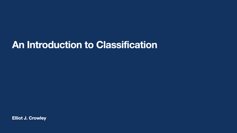 Thumbnail for entry ML4: An introduction to Classification