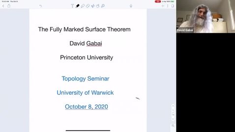 Thumbnail for entry The fully marked surface theorem - David Gabai