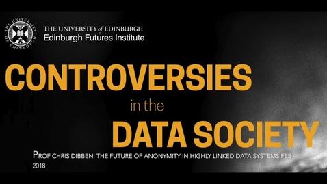 Thumbnail for entry Data Controversies Week 4 2018 Chris Dibben