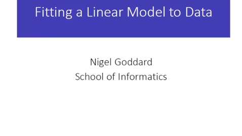 Thumbnail for entry Fitting the Linear Model to Data