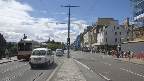 Thumbnail for entry Traffic on Princes Street, Edinburgh