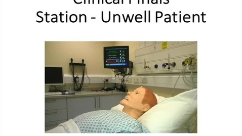 Clinical Finals Station - Unwell Patient (Examiner)