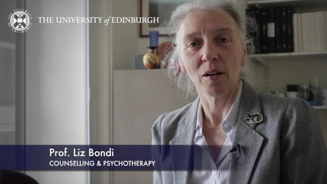 Thumbnail for entry Liz Bondi -Counselling & Psychotherapy - Research In A Nutshell- School of Health in Social Science-28/06/2012