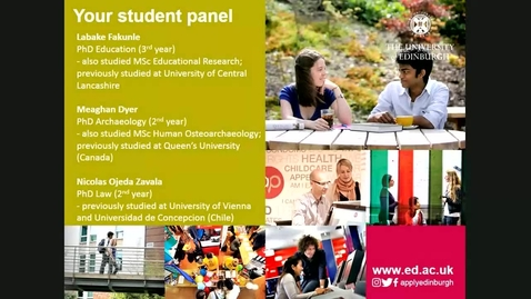 Thumbnail for entry 'Ask our students' panel - 30 August 2017